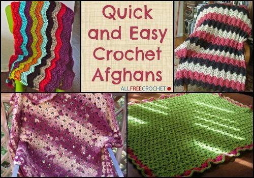 42 Quick And Easy Crochet Afghans Bonus Video Crochet