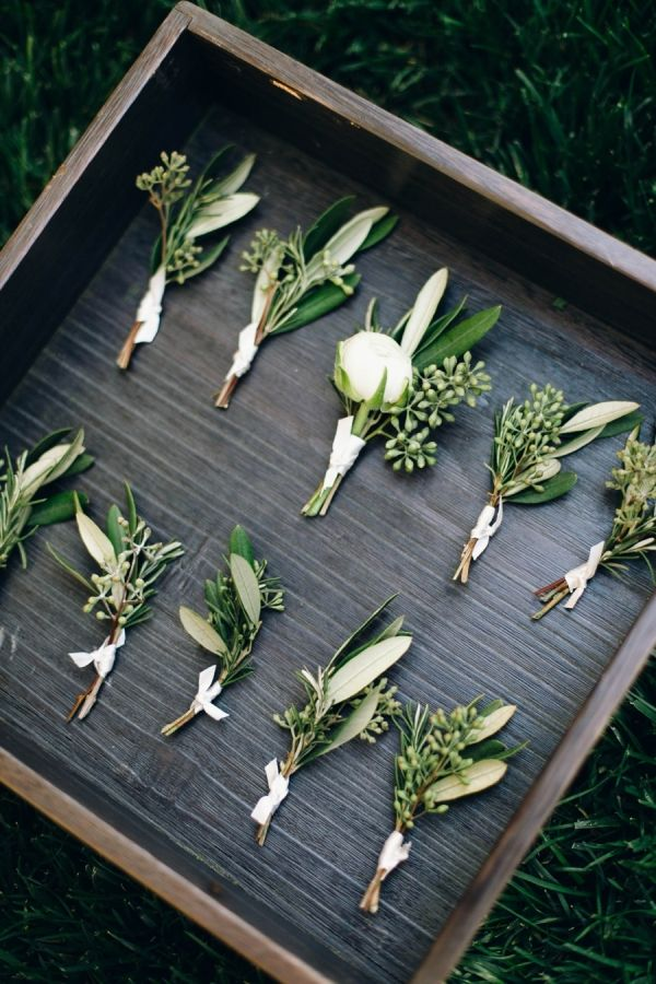 calamigos ranch wedding - eucalyptus boutonnieres