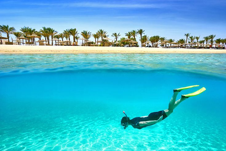 Snorkelling in the clear waters of Marsa Alam, #Egypt | Alternative #winter #sun destinations you can book with #TUI | Weather2Travel.com #travel #holiday