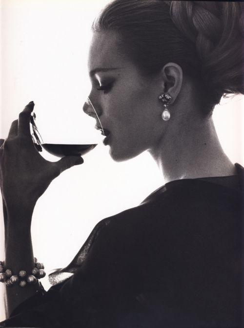 .: Paintings Art, Photos, Red Wine, Vintage Fashion Photography, Pearls Earrings, Wine Night, Drinks, Bert Stern, Bertstern