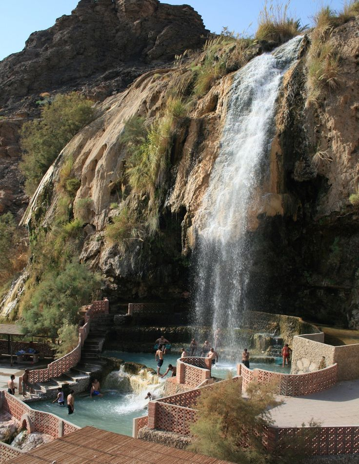 Ma'in Hot Springs on the edge of Wadi Mujib, Jordan. A local hot spot definitely worth a visit!
