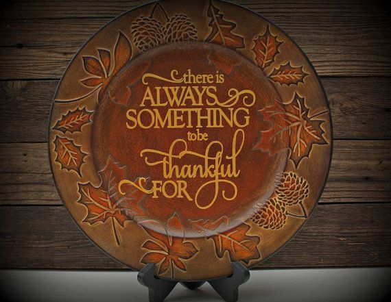 Fall Charger Plate-There is Always Something by TheBlastedBoutique & 133 best Charger plates images on Pinterest | Charger plates ...