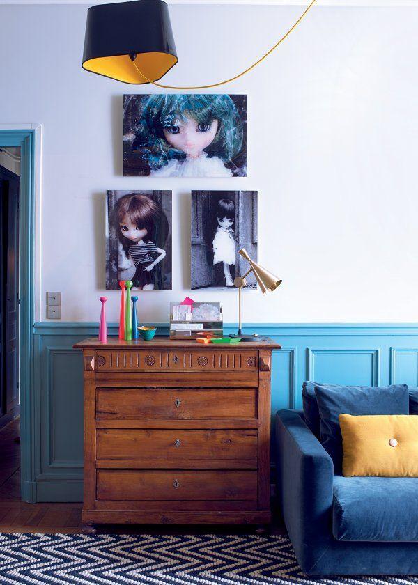 Un appartement familial qui revisite le style haussmannien - Marie Claire Maison