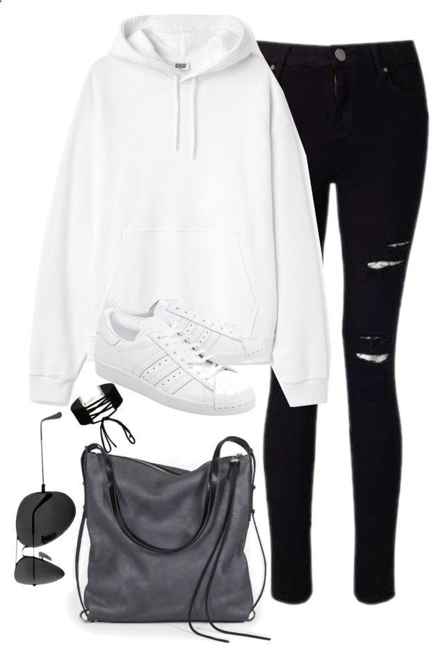aa27e74903 Untitled #2865 by theaverageauburn on Polyvore featuring Miss Selfridge,  adidas Originals, Ina Kent and Ray-Ban