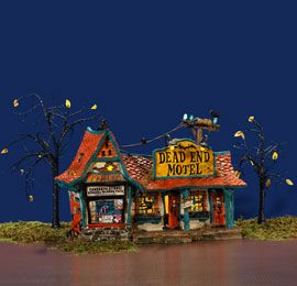 halloween village display department 56 snow village halloween dead end motel
