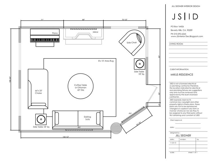 Potomac MD Online Design Project Fireplace Room Furniture Floor Plan Option 2 CAD By Sheena Murphy For JSID JSInteriorDes