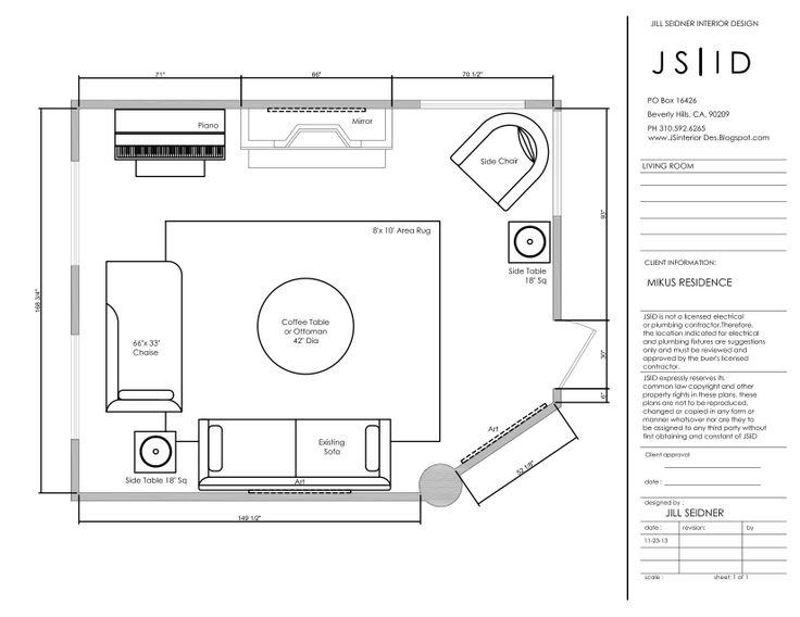 online design project living room furniture floor plan