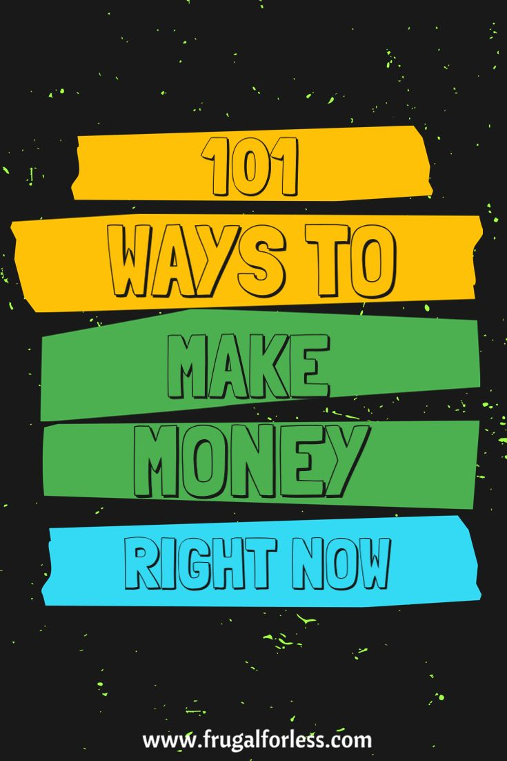 Read on to find out about 101 ways to make money now. Most of these methods include ways to make money online such as surveys that pay or money making apps. Keep in mind that all of these methods are 100% free and don't require any start-up cost. Some of these money making ideas can even be turned into ways to make money from home. This is great for Frugal Living.