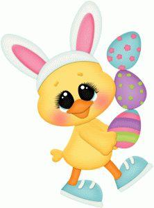 STINKIN Diseño # 77306: Polluelo de Pascua llevando huevos