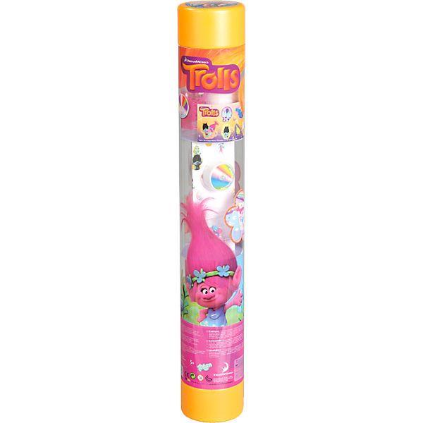 Trolls 3 in 1 Kreativ-Set von Totum.<br /> <br /> Malen mit Schablone!<br /> MIt: 6 Filzstiften, einer Schablone, Malblock<br /> <br /> Ein Trolls-Lämpchen basteln!<br /> MIt: LED-Teelicht, das die Farbe wechselt (Batterie inkl.), Ständer, Lampenschirm<br /> Trollhaaren, 8 Töpfchen mit Farbe, doppelseitiges Klebeband, Anleitung.<br /> <br /> Bastle deine eigenen Anhänger-Armbänder!<br /&...