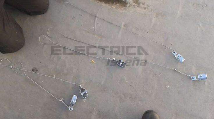 Instalación de antena tv. Tensores nuevos