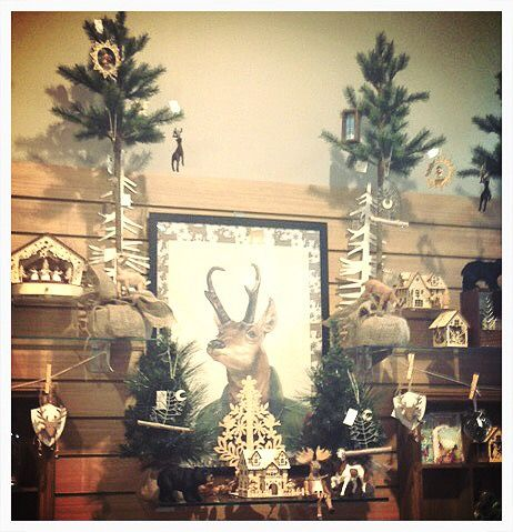 A very festive display at Card and Caboodle in Chadstone, VIC using the Pronghorn Deer poster by Animal Crew for La La Land as a centrepiece!
