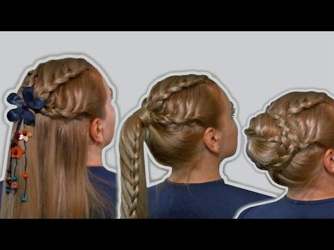 "4 Hairstyles for Long Hair on the Basis of French Braids| Hairstyle ""Transformer""