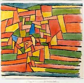 Paul Klee 'Garten am Bach' (Garden by the Stream) 1927