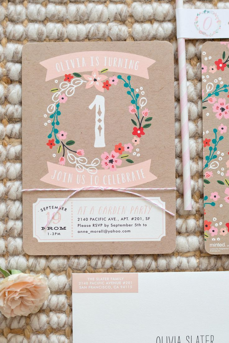 A spring inspired floral birthday party for your little one deserves the perfect birthday invitation from Minted.