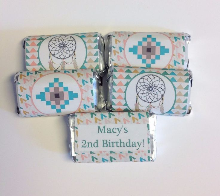 50 TRIBAL BOHO PERSONALIZED MINI CANDY BAR WRAPPERS PARTY FAVORS in Home & Garden, Greeting Cards & Party Supply, Party Supplies | eBay