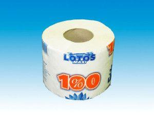 Туалетная бумага Лотос 100 на втулке (135 гр. макулатура)