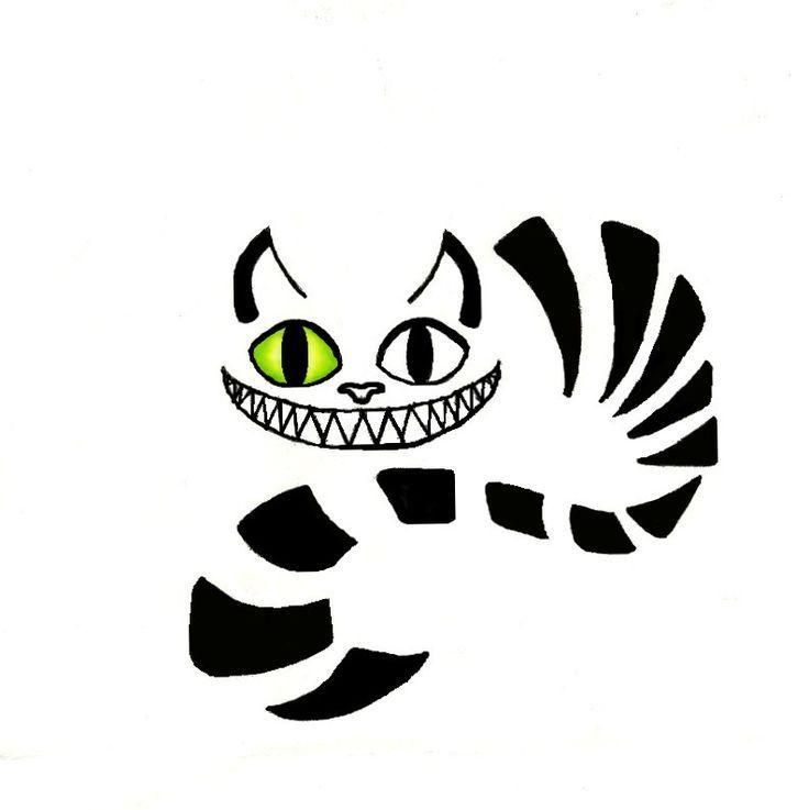 Grinsekatze Vorlage Streifen Halloween Kurbis Kurbis Schnitzen Vorlage Katze Alice Im Wunderland Bilder Kurbislaterne Schnitzen