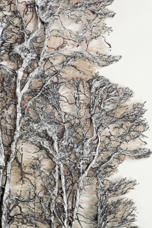 www.facebook.com/cakecoachonline - sharing....Textile art - Lesley Richmond - Silver Forest. Love her works.                                                                                                                                                      More