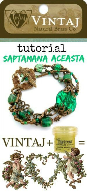 Vintaj + Distress = Love | Creatie bijuterii Petroschi Bianca