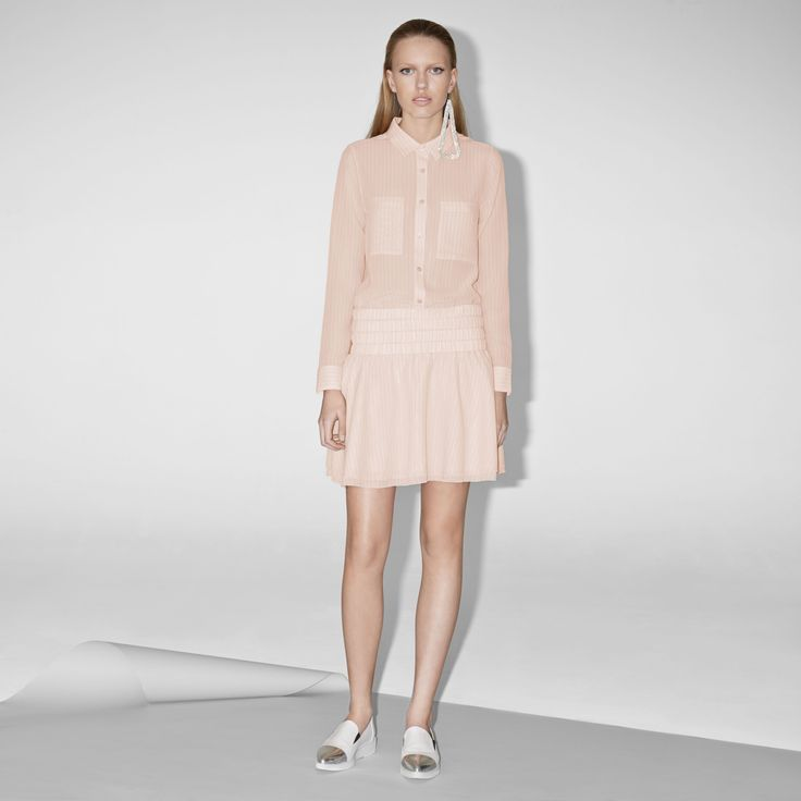 FWSS Assembly is a flowy skirt in soft cupro with a wide, smocking detailed waistband.  http://fallwinterspringsummer.com/