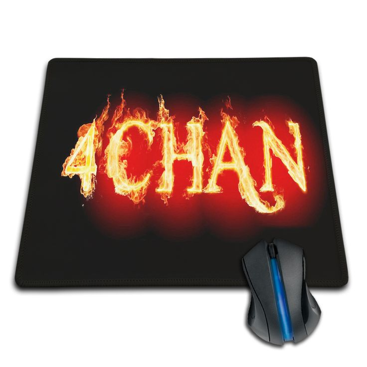 High Quality Customized Mouse Pad 4CHAN Flames Fire Typography Hot Computer Notebook Durable Non-slip Rubber Mouse Mat Pad