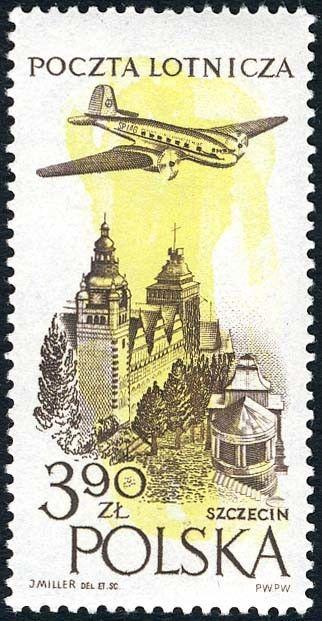 Znaczek: Museum in Sczecin (Polska) (Poczta lotnicza) Mi:PL 1038,Sn:PL C44,Pol:PL 893