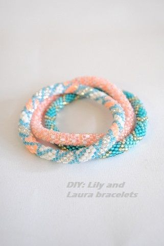 DIY: Lilly and Laura bracelets (video: Bead Crochet Mastering the Beaded Rope with Ann Benson)