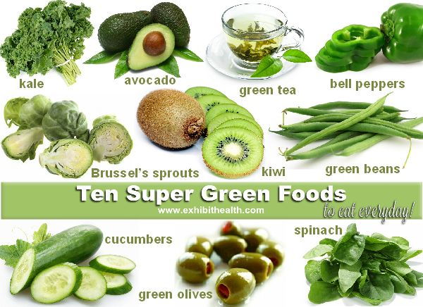 Ten Super Green Foods to Eat Every Day - Green Foods that help the body fight inflammation - the root cause of disease.