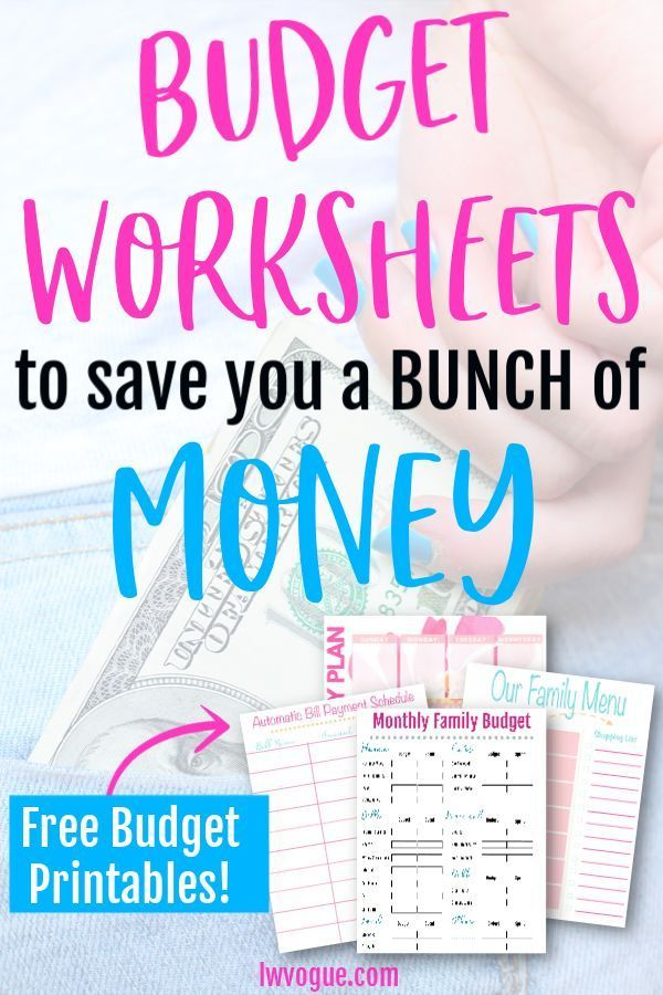 The 6 Most Popular FREE Budget Printables On a Budget Pinterest - free printable budget spreadsheet