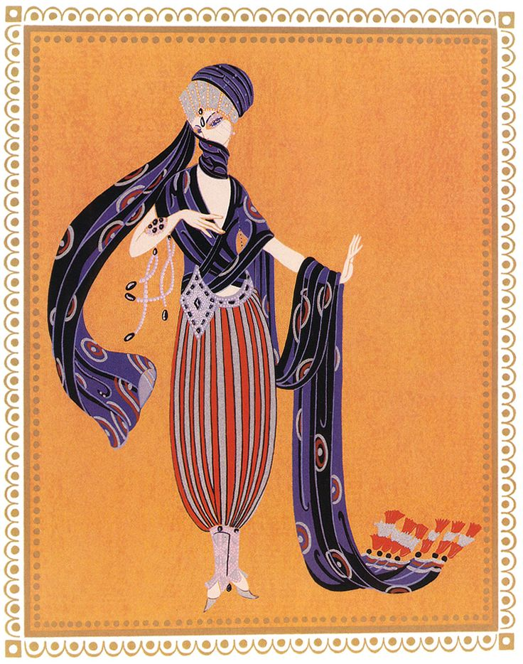 Sheerazade Calyph , Concubine Art Deco by Erte