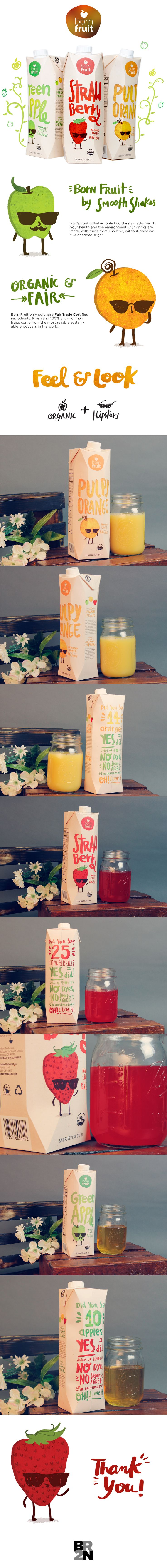 Born Fruit Juices - Packaging Design