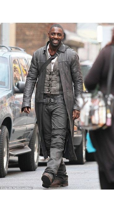 """From upcoming Fantasy/Science fiction, film Omustyle present """"The Dark Tower Black Real Leather Trench Coat made from 100% Real Leather. The fantastic trench coat has worn By Idris Elba as Roland Deschain in the movie. Buy this elegant Trench coat from our online store in discounted price."""