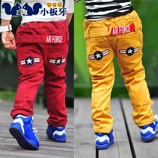 2013 autumn korean version of the new autumn childrens clothing baby boy child star thick long pants casual pants 6810 only $13.96USD a Piece