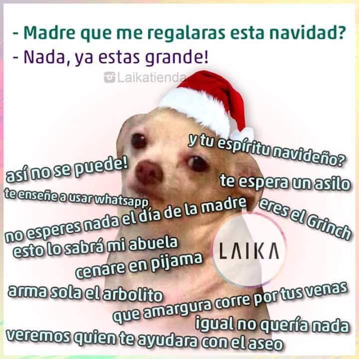 Que me vas a regalar esta navidad memes perrito - Que regalar a una madre en navidad ...