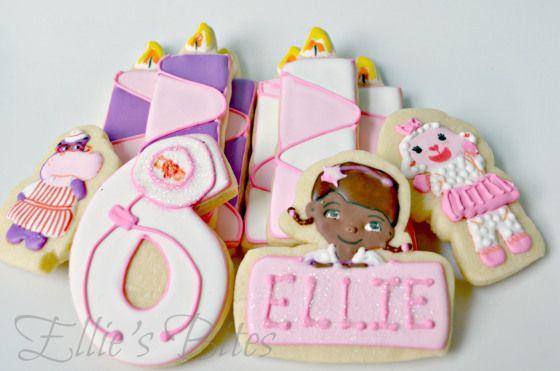 Sixth Birthday Cake | Ellie's Bites Decorated Cookies