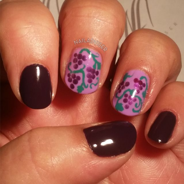 31 Day Challenge 2014, Violet nails, purple nails, grape nails, fruit nail art #31DC2014