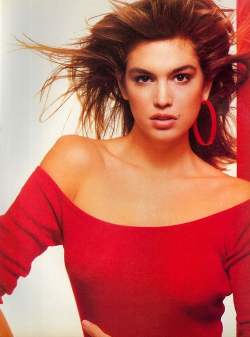 Vogue US February 1987, Cindy Crawford by Steven Meisel