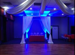 Portable pipe and drape for wedding backdrope decoration