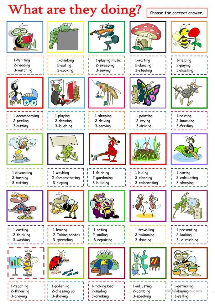 What Are They Doing English Esl Worksheets For Distance Learning And Physical Classrooms In 2020 Action Verbs English Teaching Materials Elementary Worksheets