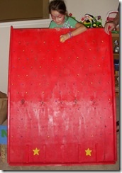 Homemade Plinko game board