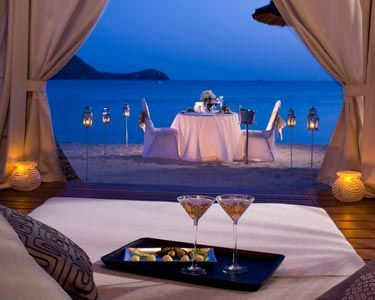 Sandals Grande St. Lucian - St. Lucia- the husband booked us this dinner. it was worth every penny.