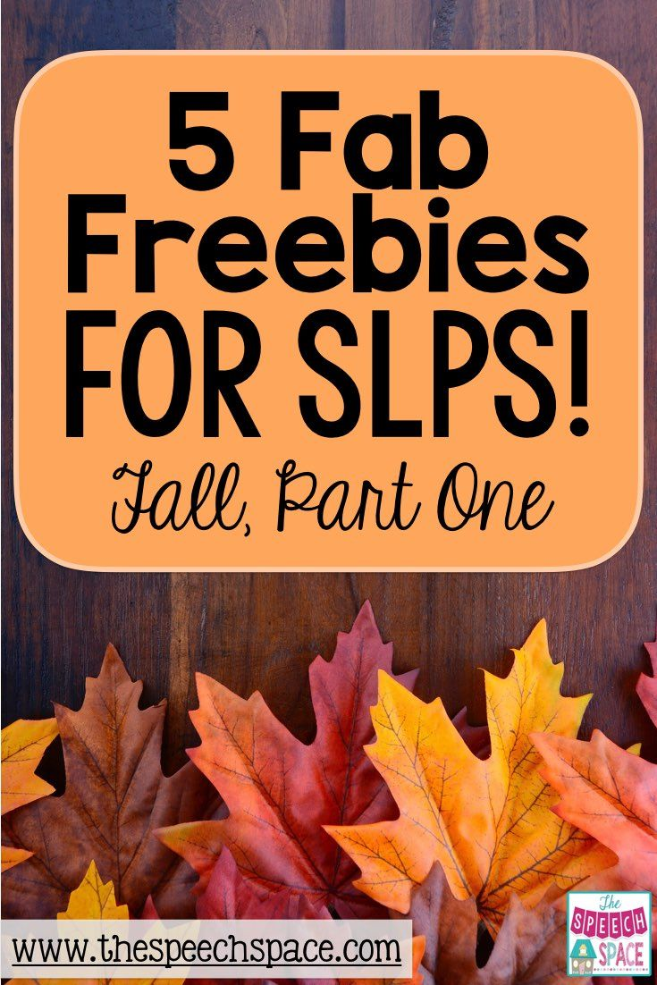 Part 1 of this 3 part series is sure to help you discover some great freebies for your speech room this fall!