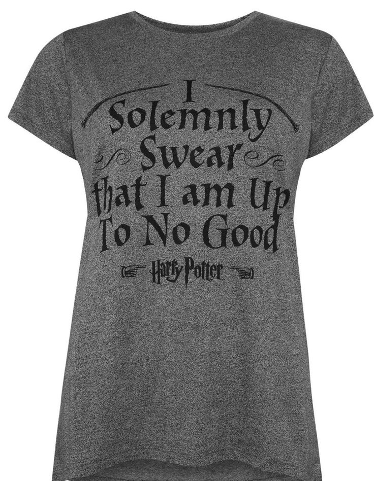 Primark Solemnly Swear T Shirt Harry Potter Womens UK 6-20 NEW - Click. Buy. Love.