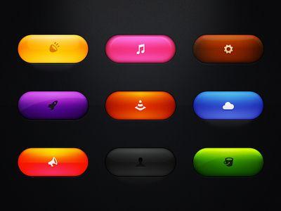 Free Buttons Set (PSD)