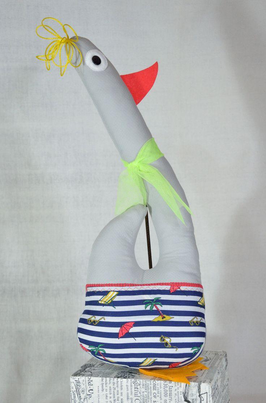 #wystrój  #rękodzieło  #ozdoby #handmade  #falbana.pl  #zwierzak #maskotka  #przytulanka  #ptak #gąska #gęś #wakacje