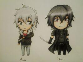 TnC - Akira and Shiki Chibi by IperGiratina98
