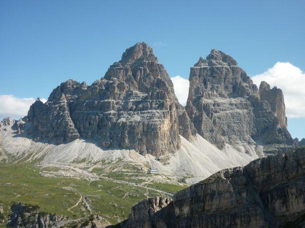 Tre Cime di Lavaredo from the trail Bonacossa!