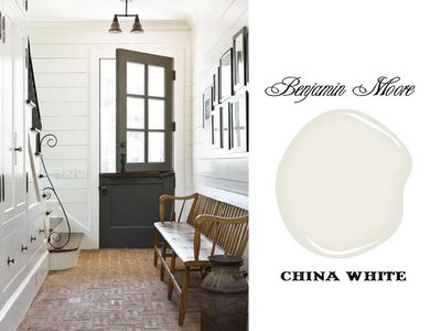 Trim through out the house either china white by BM or Swiss coffee I think by ICI