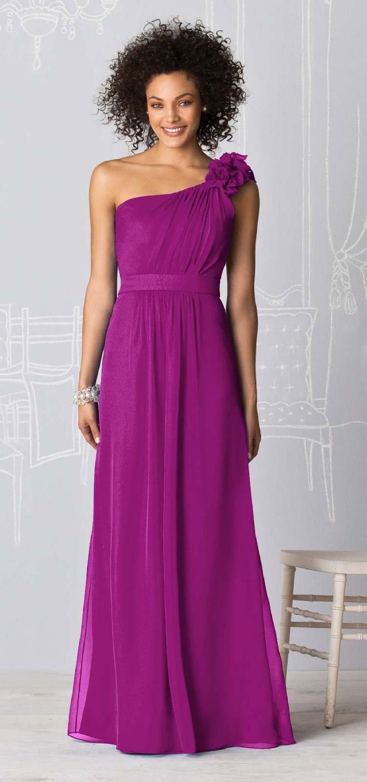 After Six Bridesmaid Dress, Floor Length, Magenta, $230 via Weddington Way, Persian Plum 1140